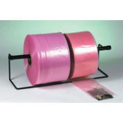 "12"" x 1075' Anti-Static Poly Tubing, 4 Mil Pink Roll"