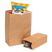 "#4 Grocery Bag 5""W x 3-1/4""D x 9-3/4""H 500 Pack, Kraft"