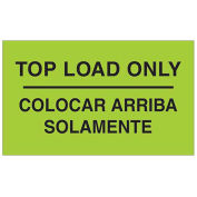"""3"""" x 5"""" Top Load Only Bilingual Labels, Fluorescent Green, 500 Per Roll"""