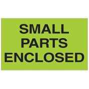"""3"""" x 5"""" Small Parts Enclosed Labels, Green, 500 Per Roll"""