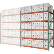 "Record Storage Rack Add-On, 96 Letter Polyethylene Boxes, 96""W x 48""D x 96""H"