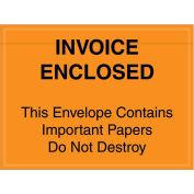 """4-1/2""""x6"""" Orange Invoice Enclosed, Full Face, 1000 Pack"""