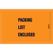 "5-1/4""x8"" Orange Packing List Enclosed- Full Face Mil-Spec, 1000 Pack"