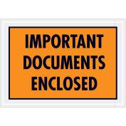 "5-1/4""x7-1/2"" Orange Important Documents Enclosed, Full Face, 1000 Pack"