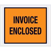 """4-1/2""""x5-1/2"""" Orange Invoice Enclosed, Full Face, 1000 Pack"""