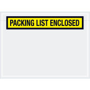 """6-3/4""""x5"""" Yellow Packing List Enclosed, Panel Face, 1000 Pack"""