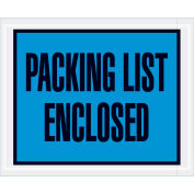 """4-1/2"""" x 5-1/2"""" Blue Packing List Enclosed Full Face 1000 Pack"""