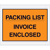 """4-1/2""""x5-1/2"""" Orange Packing List/Invoice Enclosed, Full Face, 1000 Pack"""