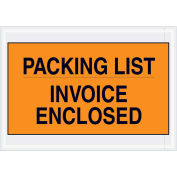 """7""""x10"""" Orange Packing List/ Enclosed Invoice, Full Face, 1000 Pack"""