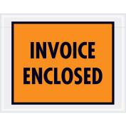 """7""""x5-1/2"""" Orange Invoice Enclosed, Full Face, 1000 Pack"""