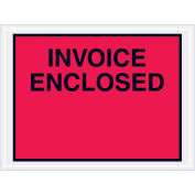 """4-1/2"""" x 6"""" Red Invoice Enclosed, Full Face, 1000 Pack"""