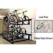 6-Bike Rack Double Decker, Locking
