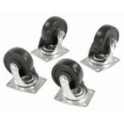 """(4) Swivel 4"""" Replacement Casters for Hardwood Dolly"""