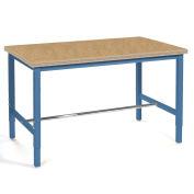 """Production Workbench - Shop Top Square Edge - Blue, 60""""W x 36""""D"""