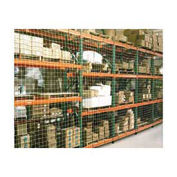 "Pallet Rack Netting, One Bay, 1-3/4"" Square Mesh Netting"