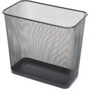 Rectangular Steel Mesh Wastebasket, 7.5 Gal. Black