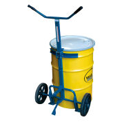 Barrel-Drum Truck with Rubber Wheels, 800 Lb. Capacity