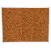 "Balt® Splash Cork Tackboard Aluminum Frame 96""W x 48""H Red"
