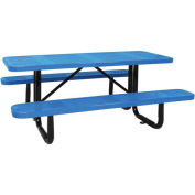 "96"" ADA Picnic Table, Surface Mount, Blue"