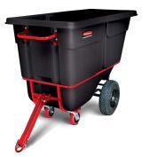 """Rubbermaid® 1 Cubic Yard Towable Plastic Tilt Truck, Black, 69""""L x 33-1/2""""W x 46-1/8""""H"""