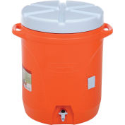 Insulated Beverage Dispenser, 10 Gallon, Spigot, Carrying Handles