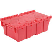 Distribution Container With Hinged Lid 19-5/8x11-7/8x7 Red