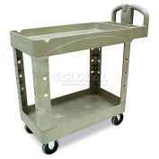 Rubbermaid® Beige HD Tray Shelf Service & Utility Cart 39 x 18