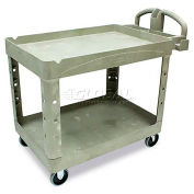 "Rubbermaid 4520-88 Beige HD Tray Shelf Service Cart 44 x 25, 44""L x 25""W x 33""H"