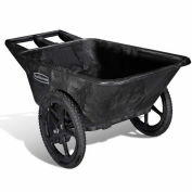 "Rubbermaid Big Wheel 5642 Black Utility Agriculture, Nursery & Farm Cart, 58""L x 32-3/4""W x 28-1/4""H"