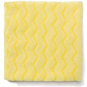 "Reusable Microfiber Cleaning Cloths 16"" x 16"", Yellow 12/Case"