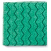 "Reusable Microfiber Cleaning Cloths 16"" x 16"", Green 12/Case"
