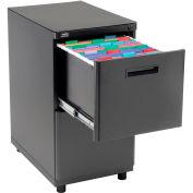 2 Drawer Pedestal File Cabinet, Black
