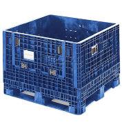 ORBIS BulkPak Folding Bulk Shipping Container, 48 x 45 x 34, 1800 lb Capacity, Blue