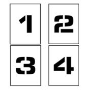 """8"""" Single Character Stencil - Number Set 0-9"""