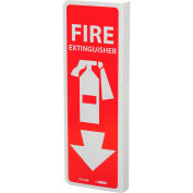 NMC FX124R Fire Flange Sign - Fire Extinguisher