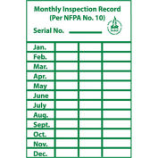 NMC ML1 Monthly Inspection Record Label