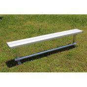 8' Park Bench Without Back, Aluminum