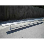 15' Park Bench Without Back, Aluminum