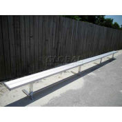 21' Park Bench Without Back, Aluminum