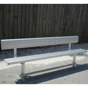 6'Park Bench with Back, Aluminum