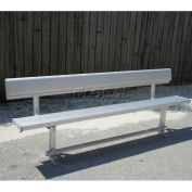 8' Park Bench With Back, Aluminum