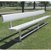 15' Park Bench With Back, Aluminum