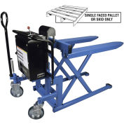 Bishamon SkidLift™ High Lift Skid Truck, Battery Powered, 2200 Lb. Cap., 20.5 x 42.5 Forks