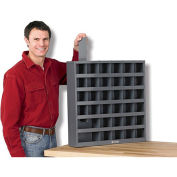 "DURHAM Steel Bin Shelving With Removable Dividers - 23-3/4x4-3/4x23-3/4"" - (36) Bins"