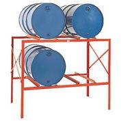 Modern Equipment 4 Drum Storage Rack, Steel, Red