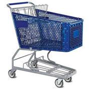 VersaCart® Blue Plastic Shopping Cart 6.3 Cu. Foot Capacity