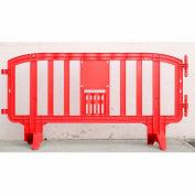 "MOVIT® Plastic Barricade, Interlocking, 78""L x 39""H, Red"