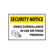 NMC SN20RC Security Notice Plastic - Video Surveillance In Use On These Premises