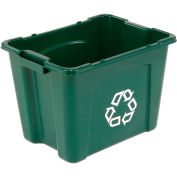 RUBBERMAID Recycling Bin - 14-Gallon Capacity - Green