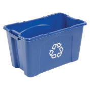 Rubbermaid Recycling Container, 18 Gallon, Blue